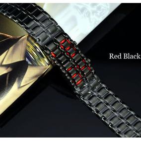 Reloj Iron Negro Digital Led Rojo Estilo Samurai Unixes