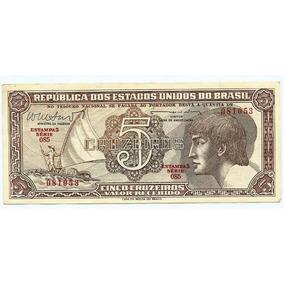 127 Cdl- Brasil 1 Cédula Índio Cr$.5,00 Cruzeiros 1962 C 112