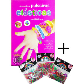 Livro Pulseira + 1600 Elásticos Loom Bands Passo A Passo