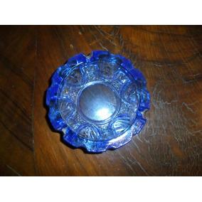 Cenicero De Vidrio Prensado Color Azul.microcentro-avellaned