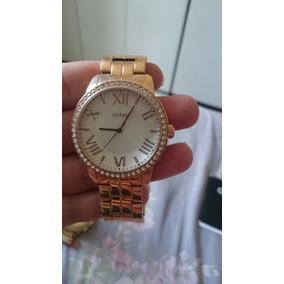 23fe364d20f Relógio Guess Feminino Dourado Com Pedras Belíssimo - Relógios De ...