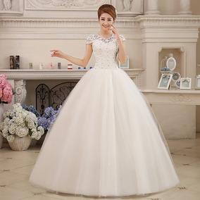 Vestido Noiva Casamento Princesa Elegante Com Renda