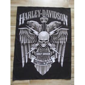 Bandeira Decorativa Harley Davidson Skull