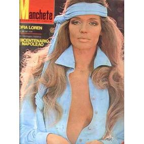 Manchete N;881 De 1969 Sofia Loren. Veruschka.