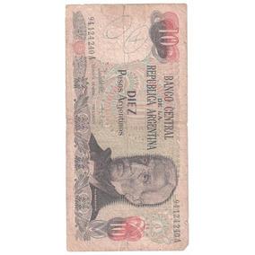 10 Diez Pesos Rara Nota Cédula Da Republica Argentina N0452