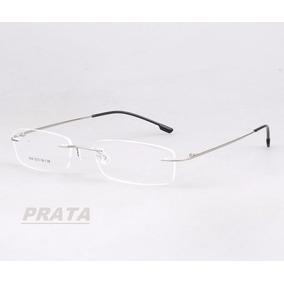 5d3ca9e62529a Armação P  Óculos De Grau Sem Aro Em Titânio Memory 9 Cores