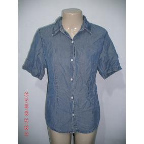 Linda Camisa Jeans ( Fem) Wrangler Tam  G 2721a50dcfa