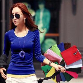 Lote De 12 Blusas Termicas De Colores De Mujer Moda Japonesa