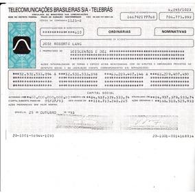 Apolices Telecomunicações Brasileiras Telebrás