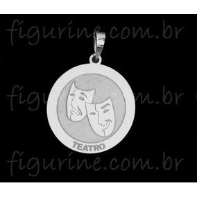 Profissão Em Prata 925! Pingente Simbolo Teatro - Joias e Bijuterias ... 14ad544dd6