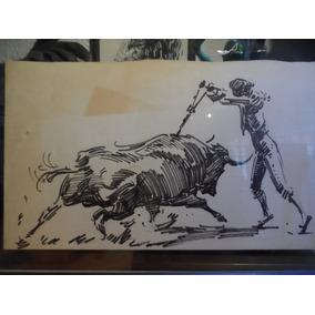 Pintura Taurina Pancho Flores Par De Banderillas Tauromaquia 0b02d6e8a2d
