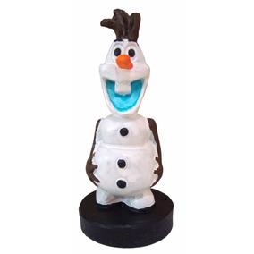 Olaf Sorrindo Frozen Escultura Decorativa Resina Personagem