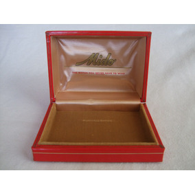 Caja Estuche Para Reloj Mido Rojo Hecha En Suiza
