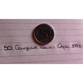 Moeda 50 Cruzeiros Reais 1993 Onça