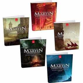 Game Of Thrones - 5 Livros - Kit Guerra Dos Tronos Lacrados