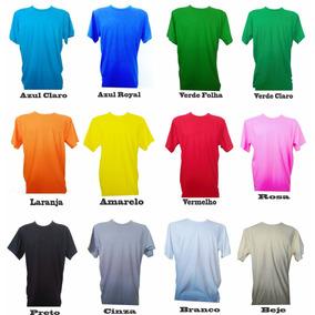 Kit 10 Camisas Lisa Malha 30 100% Algodão - Atacado Colorida