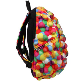 Mochila Madpax Relieve Backpack Laptop 3d Bolitas Chicle Fun