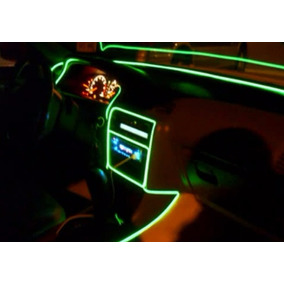 Fio De Luz Neon Verde-limão Hutz 3 Metros Ø5mm C/ Controle