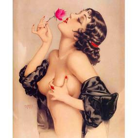 Lienzo Tela Pin Up Girl Modelo Olive Alberto Vargas 61 X 50