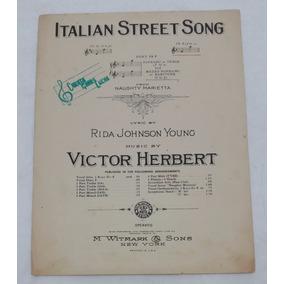 Partitura Antiga - Italian Street Song - Victor Herbert