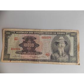 Cédula De 10 000 Cruzeiros, Santos Dumont, Estado De Mbc.