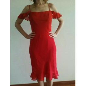 b940f7c7f Vestido Hombros Volados - Vestidos de Mujer Rojo en Mercado Libre ...