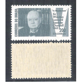 C-532y Papel Marmorizado 1965 Personagem Winston Churchill