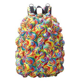 Mochila Madpax 3d Relieve Backpack Laptop 3d Lollipop Fun