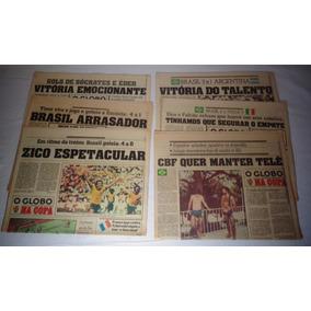 Jornal O Globo Copa 82 Caderno Esportivo Futebol