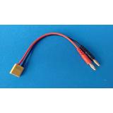 Cabo Xt60 Plug Banana 4.0 Para Carregador Bateria Lipo