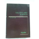 * Vocabulario Jurídico E Couture Empastado 590 Páginas