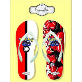 Chinelo Pokebola / Pokeball Pokemon Go Real Do Anime