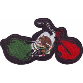 Mexico Bandera Parche Bordado Chopper Moto