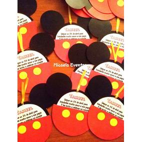 Invitacion Y Sobre Mickey Mouse El Conjunto Souvenirs Para