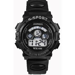 Reloj Honhx Negro Deportivo Mujer O Niño