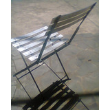 Cadeira De Ferro Com Alumínio, Dobrável