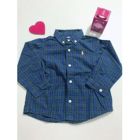 Camisa Xadrez Manga Longa - Ralph Lauren Para Menino ac376175a9f