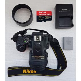 Nikon D5600 (corpo) + Acessórios - Muito Nova!