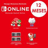 12 Meses - Nintendo Switch Online ¡hasta 15% Descuento!