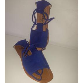 Zapatos Para Mujer, Dama, Sandalia Plana Romana, Talla 38