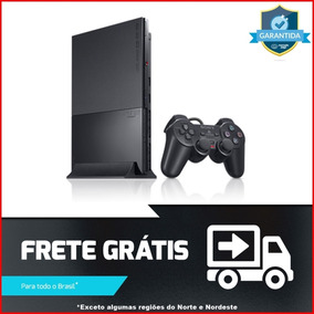 Video Game Ps2 Slim Sony Completo 1 Controle + 3 Jogos