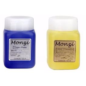 Kit Limpa Chapeados E Pratas Liquido Monzi 125ml