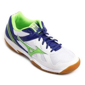 Tênis Mizuno Cyclone Speed Indoor - Branco/verde