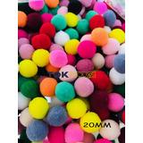 500 Mini Pompom Artesanato - 20mm - Colorido
