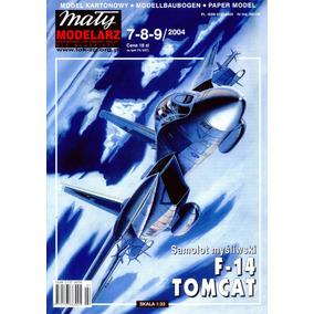 (maquete) F-14 Tomcat Papercraft Cortar Colar E Montar