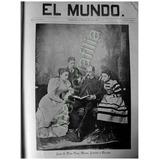 Reportaje Antiguo Juan De Dios Peza Y Familia 1895