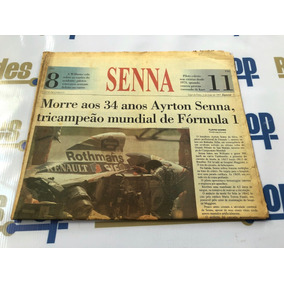 Morte Ayrton Senna Jornal Caderno E Pôster Folha De Sp 1994