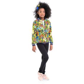 22a22484e Jaqueta Dani Russo Floral - Casacos para Meninas no Mercado Livre Brasil