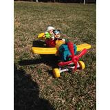 Avion Articulado, La Casa De Mickey Mouse, Con Un Acompañant