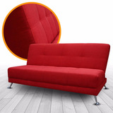 Sofa Cama Futón Love - Tela - Conforto Muebles